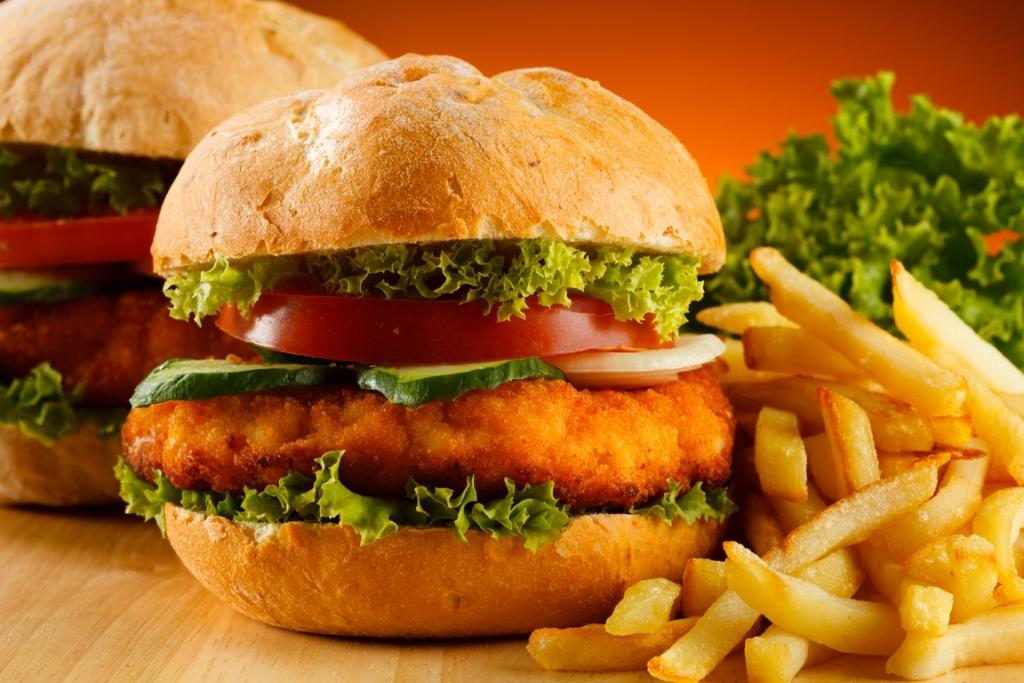 Chicken sandwich fries Wraps, Turkey, Vegtables