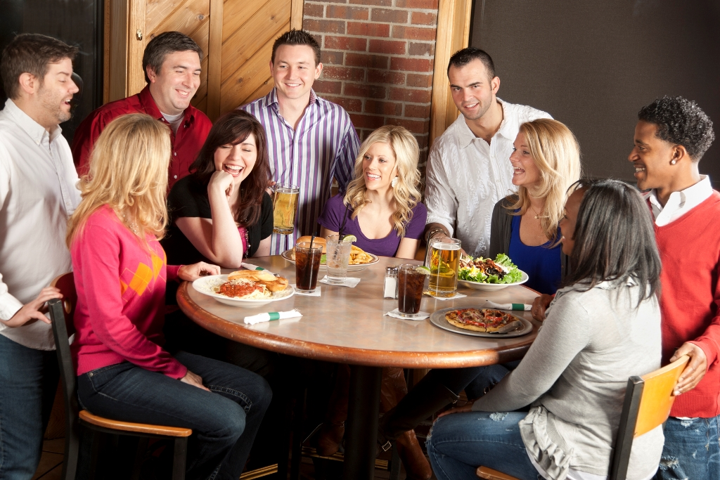 Blue Gill Grill MSU U of M People: Adult Couples Night Out Restaurant Bar Laughing Fun